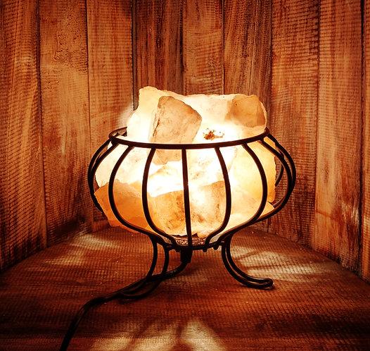 Salt Crystal Basket Lamp