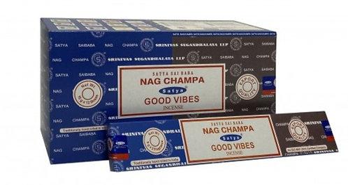 Satya Nag Champa and Good Vibes Incense Sticks 16g