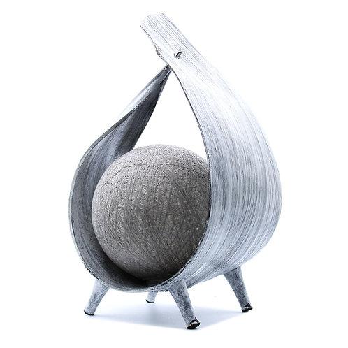 Natural Coconut Lamp-Greywash Wrapover
