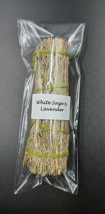 White Sage & Lavender Smudge Stick-10cm