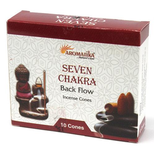 Seven Chakra Backflow Incense Cones
