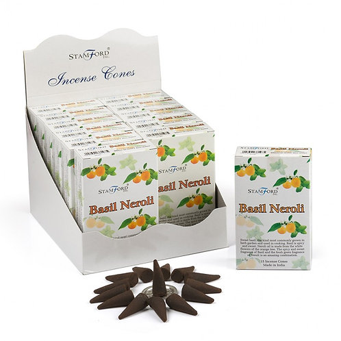 Stamford Basil and Neroli Incense Cones