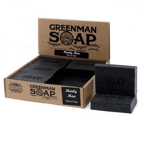 Greenman Soap-Manly Man-Clove & Sage