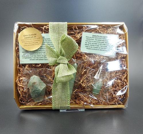 Green Aventurine Crystal Gift Set