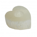 Selenite Crystal Heart Tea Light Holder