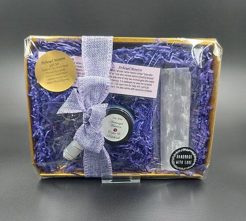 Archangel Metatron Candle & Crystal Gift Set