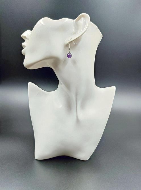 Silver Plated Amethyst Earrings