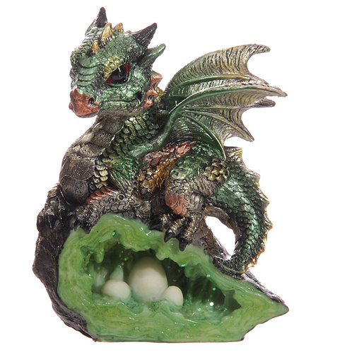 Baby Dragon with Crystal Cave