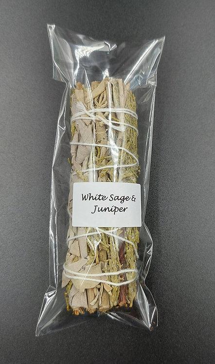White Sage & Juniper Smudge Stick-10cm