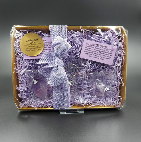 Amethyst Crystal Gift Set