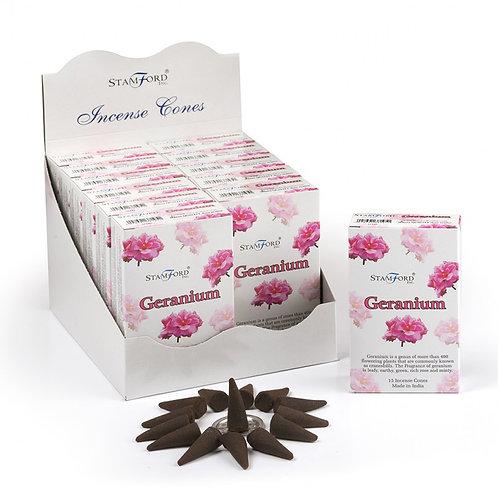 Stamford Geranium Incense Cones