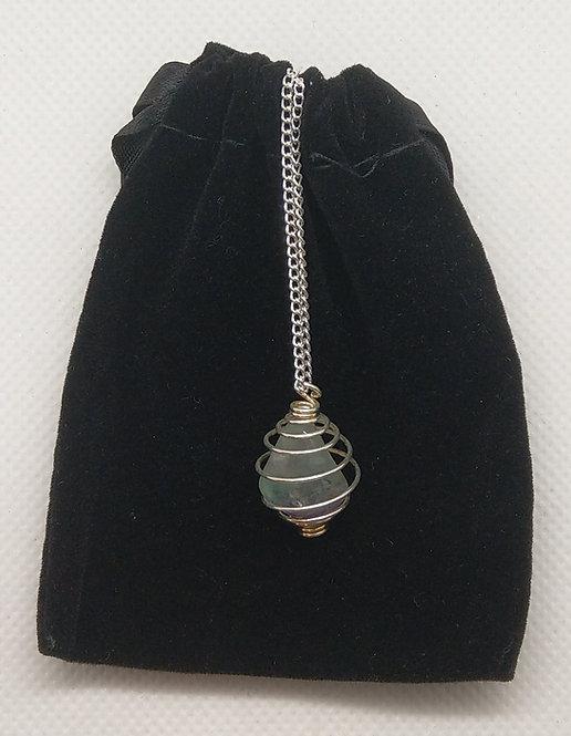 Fluorite Gemstone Pendant