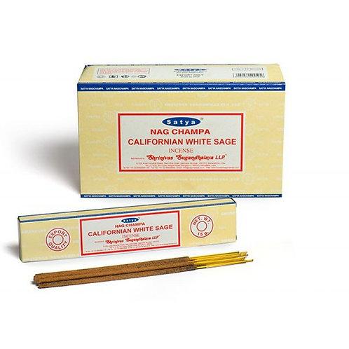 Satya Californian White Sage Incense Sticks 15g