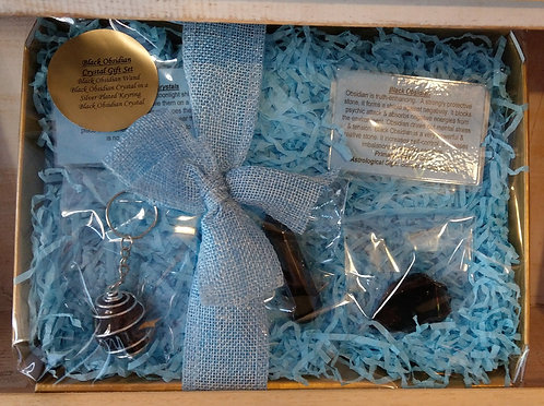 Black Obsidian Crystal Gift Set