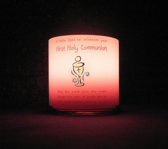 Personalised Communion Candle Girl Our Father