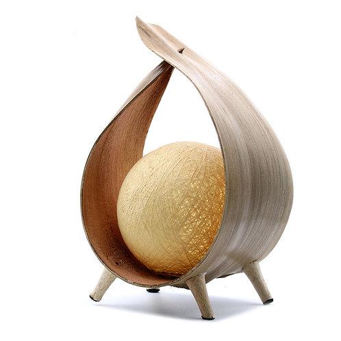 Natural Coconut Lamp-Natural Wrapover