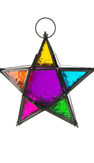 Hanging Moroccan Style Star Lantern