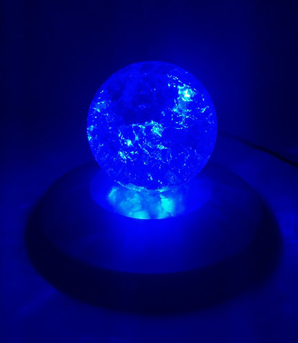 Crystal Glass Ball Splintered LED Light