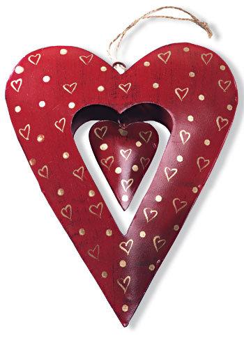 Large Metal Heart Hanging Decoration