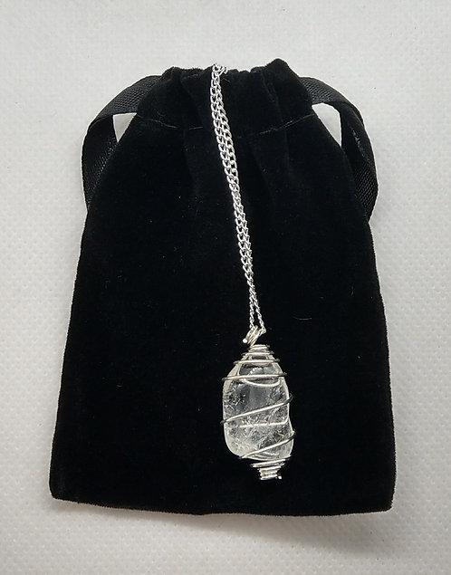Clear Quartz Gemstone Pendant