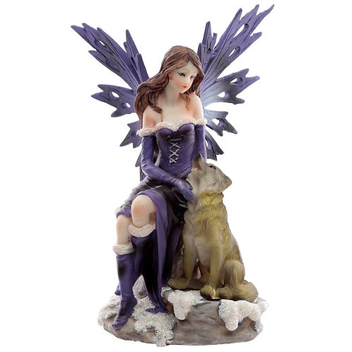 Midnight Dreamer-Winter Wolf Snow Fairy