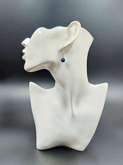 Silver Plated Lapis Lazuli Earrings