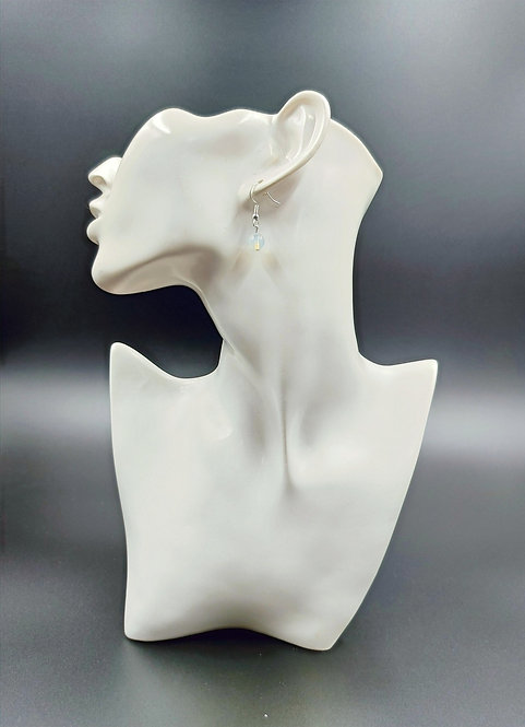 Silver Plated Opalite Earrings