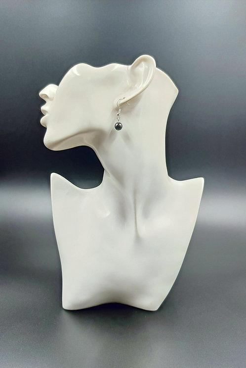 Silver Plated Hematite Earrings