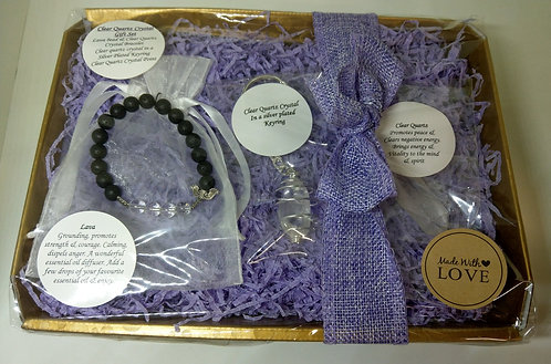 Clear Quartz Crystal Gift Set