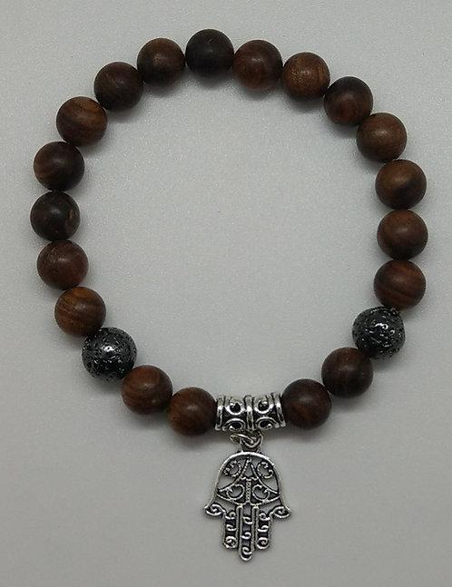 Sandalwood Beads Mala Bracelet