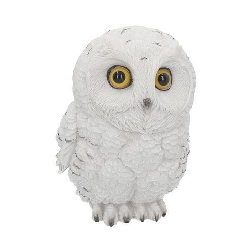 Winters Wisdom Adorable Snowy Owl Figurine 19cm