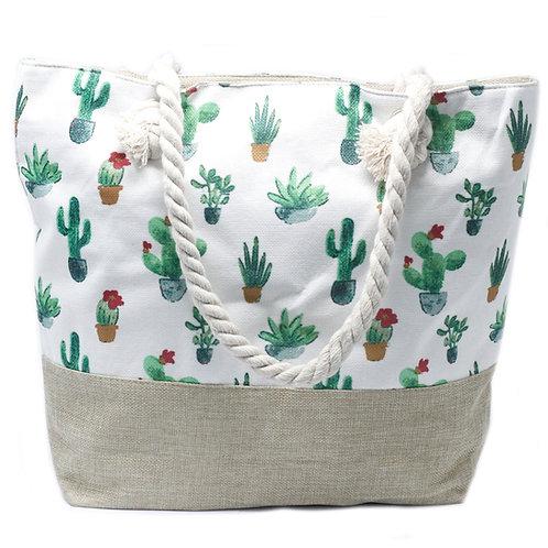 Rope Handle Bag-Mini Cactus