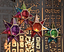 Moroccan style star glass lantern.jpg