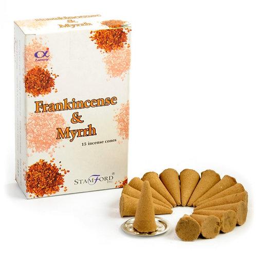 Stamford Frankincense & Myrrh Incense Cones