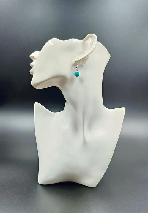 Silver Plated Chrysocolla Earrings