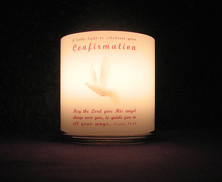 Personalised Confirmation Candle Girl Irish Blessing