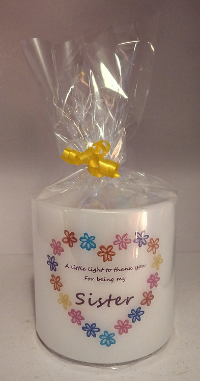 Personalised Sister Lantern Small