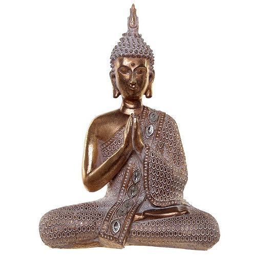 Gold & White Thai Buddha-Lotus