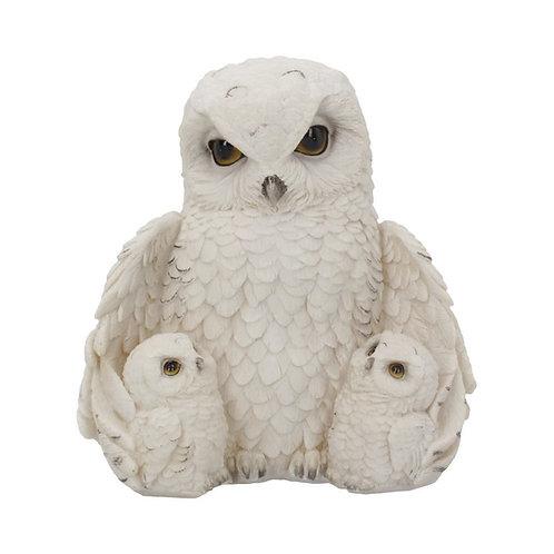 Feathered Family Beautiful Snowy Owl Trio 21.5cmamily 21.5 cm
