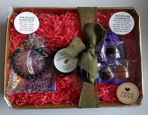 Study Aid Crystal & Candle Gift Set