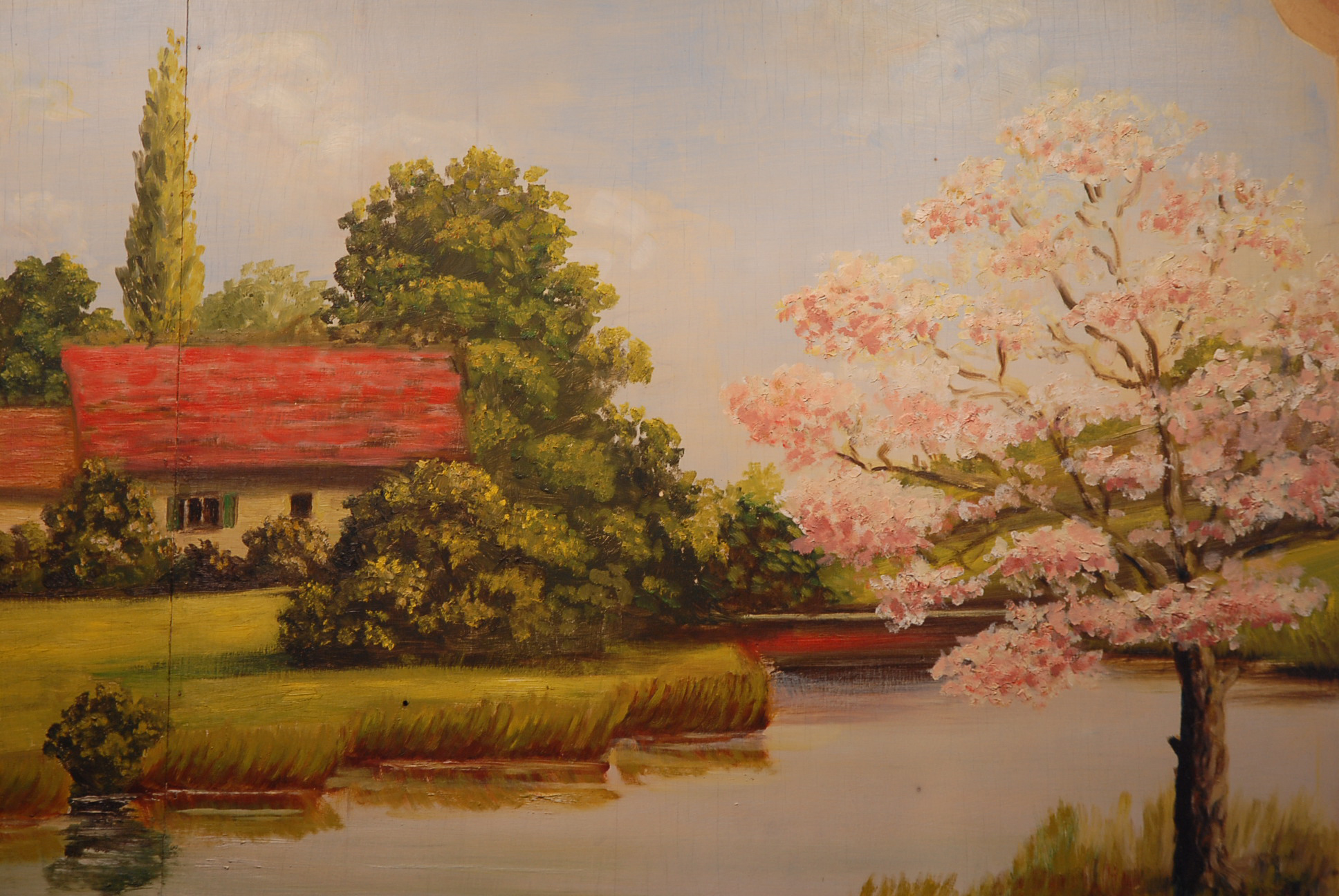 Cottage with Peach tree