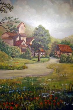 Farm by stream (vert)