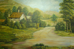 Cottage by road