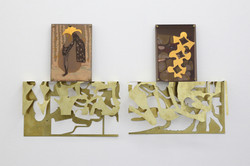 Leonor Serrano Rivas, Untitled (Estrella studio) nº 6, 2019 - 2021, metacrilate, brass, sugar, wax,