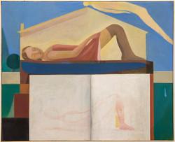 Pequeña siesta, 2020, oil on canvas, 81 x 100 cm