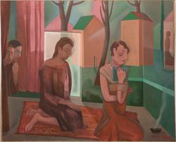 Gran estancia de meditación, 2020, oil on canvas, 150 x 185cm