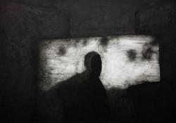 Untitled, 2017 Oil, ink, acrylic medium