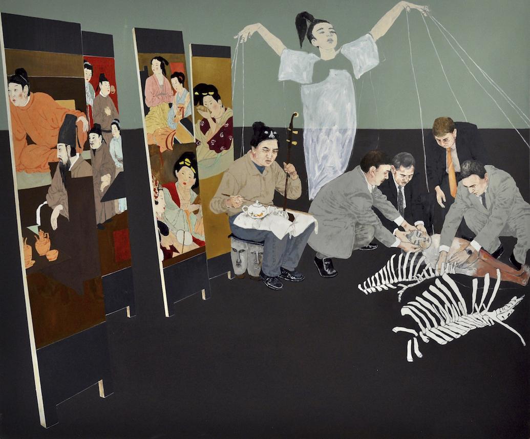 Memorial, 2015, oil on canvas, 152