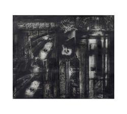 37e_Habitat_19x22_ ink,charcoal,collage