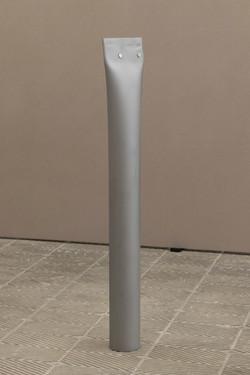 2021, Steel tube flattened and sandblasted, 80 x 12,5 x 8 cm